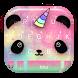 Cartoon Unicorn Panda Keyboard Theme by Fashion theme for Android-2018 keyboard