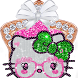 Black Bling Kitty Bowknot Theme by Angela Themes