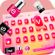 Pink Girl Love Fashion Beauty Keyboard Theme by cool theme and wallpapers