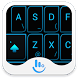 Neon Blue Light Keyboard Theme by Love Free Themes
