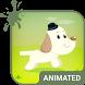 Cute Dog Animated Keyboard by Wave Design Studio