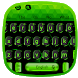 Black Neon Green Keyboard by Super Cool Keyboard Theme