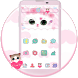 Cute Kitty theme – pink rose kitty by Beauty Themes Plus