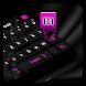 Black Pink Keyboard by Cool Theme Studio