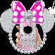 Silver Diamond Minny Pink Bow Theme