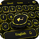 Gold Retro Typewriter Keyboard Theme by cool theme and wallpapers
