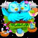 3D Animated Love Birds Theme