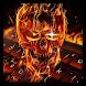 Flaming Skull Typewriter by Keyboard Dreamer