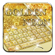 Neon Golden Glitter Keyboard by Launcher and Keyboard Theme Design