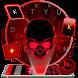 Neon Red Skull Keyboard Theme by Beautiful Heart Design