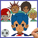 How to draw Inazuma Eleven - Little Giants by Draw and enjoy