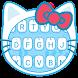 Hello Blue Kitty Theme&Emoji Keyboard by Keyboard Fantasy