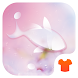 Rain Drops Theme - Love Pink Flower by Themes for Android Free