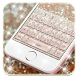 Pink Silver Diamond Keyboard by Launcher and Keyboard Theme Design