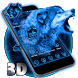 3D Neon Vivid Wolf Theme by Elegant Theme