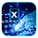 Neon Blue Laser Keyboard Theme Future