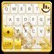 Golden Swan Keyboard Theme by Fashion Cute Emoji