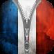 France Flag Zipper Lock by devpro7