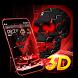 Neon Tech Skull 3D Theme by 3D Theme Studio