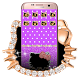 Purple Kitty Diamond Bowknot Theme by Angela Themes