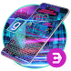 Neon Beaut shining light night keyboard by Bestheme Keyboard Designer 3D &HD