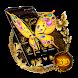 3D Luxury Golden Butterfly Launcher Theme