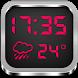 Night Clock Weather Widget