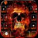 Flame skull keyboard Theme