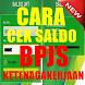 Cara Cek saldo BPJS Ketenagakerjaan by Tukang Ngoprek