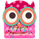 Cute owl love pink keyboard theme by Cool Theme Creator