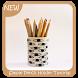 Simple Pencil Holder Tutorial by Triangulum Studio