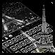 Glitter Paris Night Keyboard by Cool Keyboard Theme Studio
