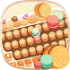 Biscuit macaron keyboard by Echo Keyboard Theme