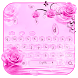 Pink rose drops by Super Keyboard Theme