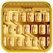 Gold Luxury Deluxe Typany Keyboard by 3D / Animated Keyboard Themes