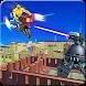 Flying Bike Robot Shooter Robot City wars by Gametrends studios