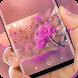 Spring Pink Flower Keyboard Sakura Theme by Super Hot Themes Design Studio