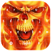 Flaming Fire Skull Typewriters by live wallpaper collection