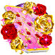 Golden and Red Roses Live Wallpaper by MX Apps