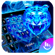 Neon Tiger King Keyboard Theme by Fashion Cute Emoji