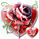 3D Ice Rose Love Theme by 3dthemecoollauncher