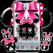 Cute minny pink Bow Silver Diamond Theme by Maddy-Sid