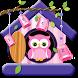 Beautiful Cute Pink Owl by Luxury Keyboard Theme