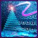 Neon Sparkly Star Keyboard