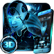 Neon Alien Girl 3D Theme by Launcher Design