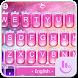Pink Princess Diamond Galaxy Keyboard Theme by Fashion Cute Emoji