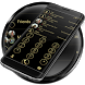 Dialer Circle Black Gold Theme by Luklek