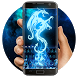 Blue Dragon Fire Keyboard by Bestheme Keyboard Designer 3D &HD