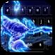 Scorpion Neon Keyboard Theme by M Typewriter Theme Studio