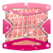 Pink Rose Keyboard Theme by Gradient Themes
